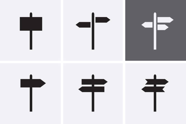 Signpost Icons set. Signpost Icons set. Vector guide stock illustrations