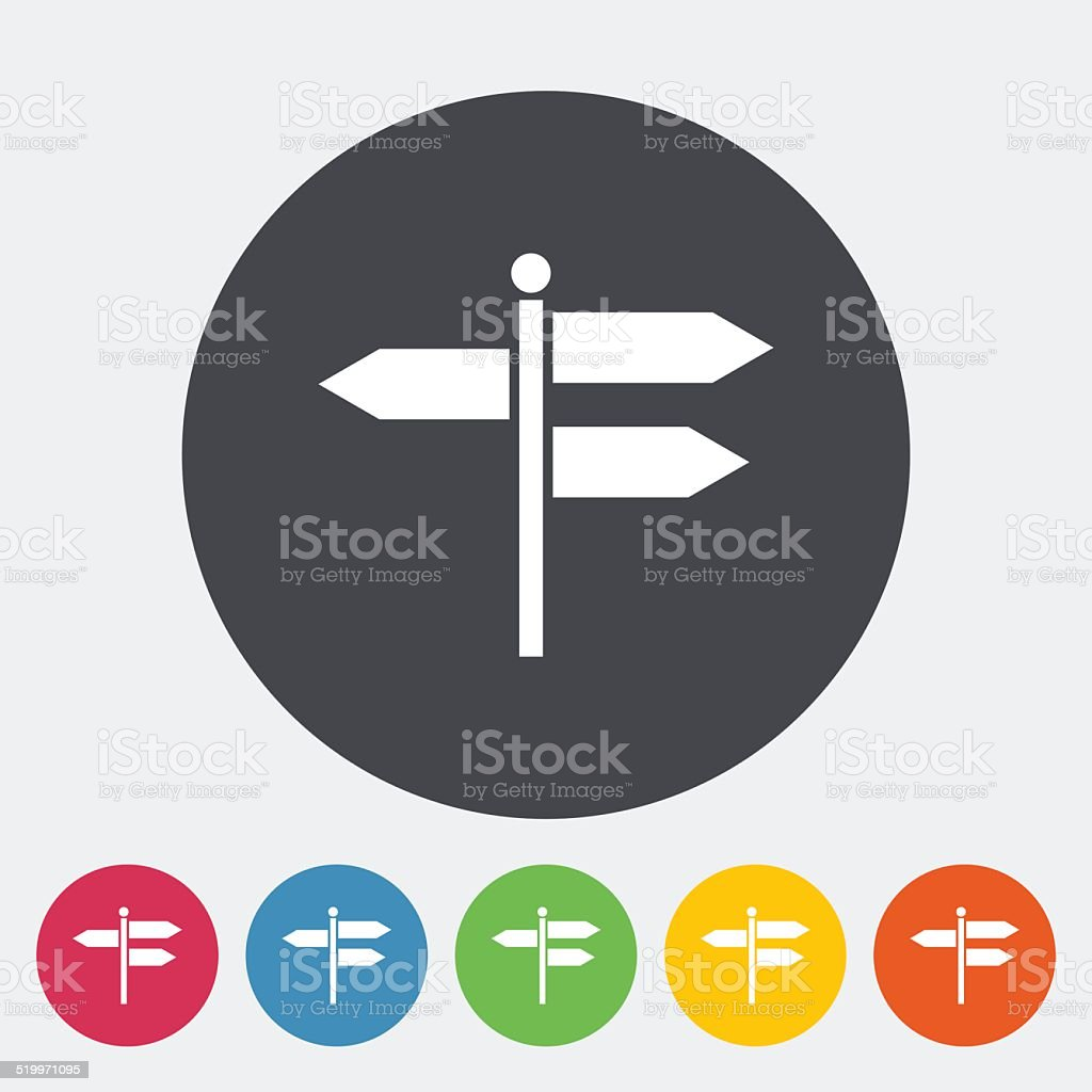 Signpost vector art illustration