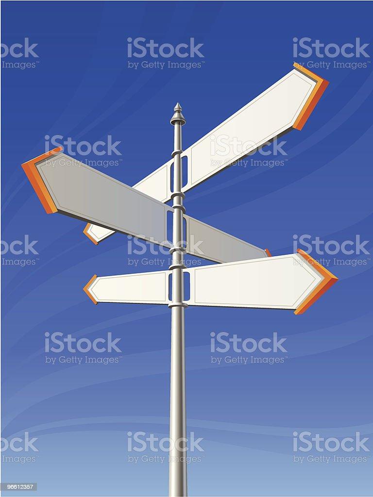 Signpost - Royalty-free Arrow Symbol stock vector