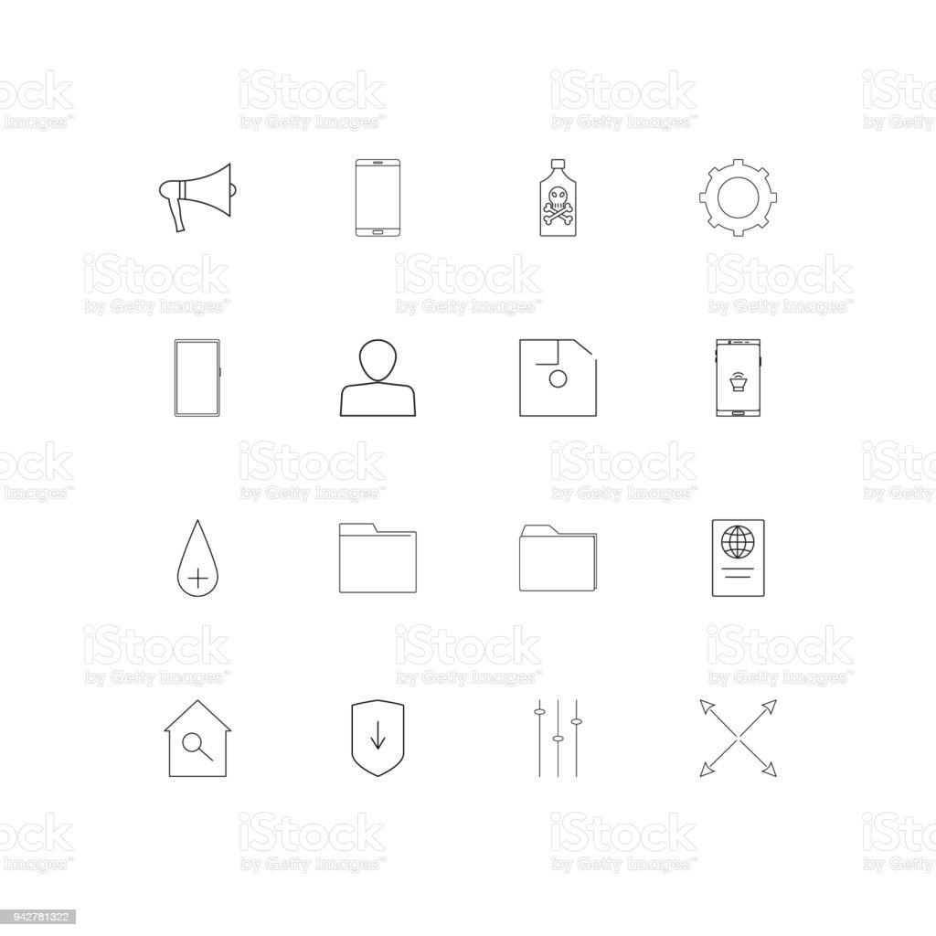 Signs And Symbols Simple Linear Icons Set Outlined Vector Icons
