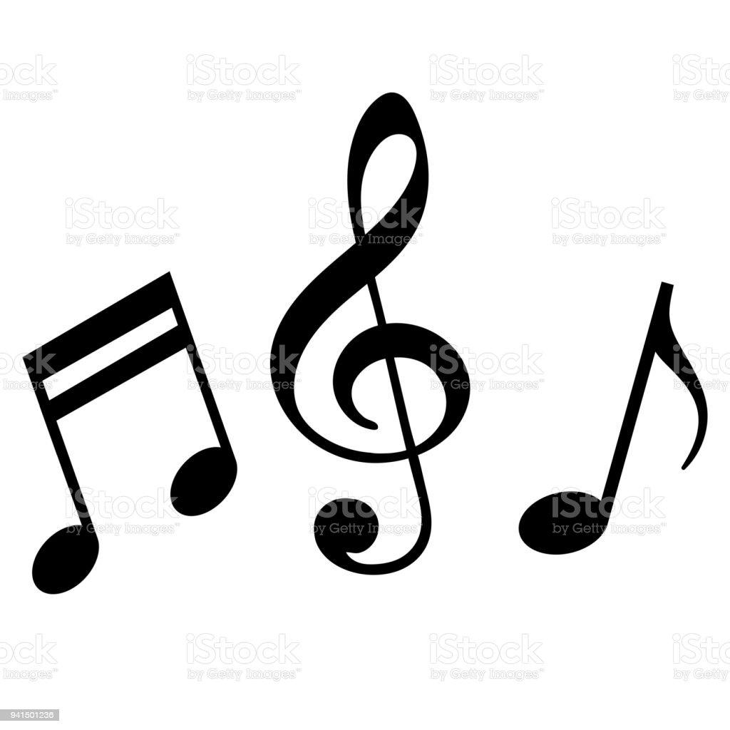 Signs of a musical notation - Grafika wektorowa royalty-free (Abstrakcja)