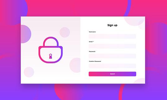 signup login page ui design background