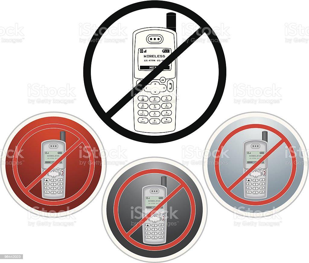 O SILÊNCIO VALE OURO Sem celulares ícone - Vetor de Barulho royalty-free