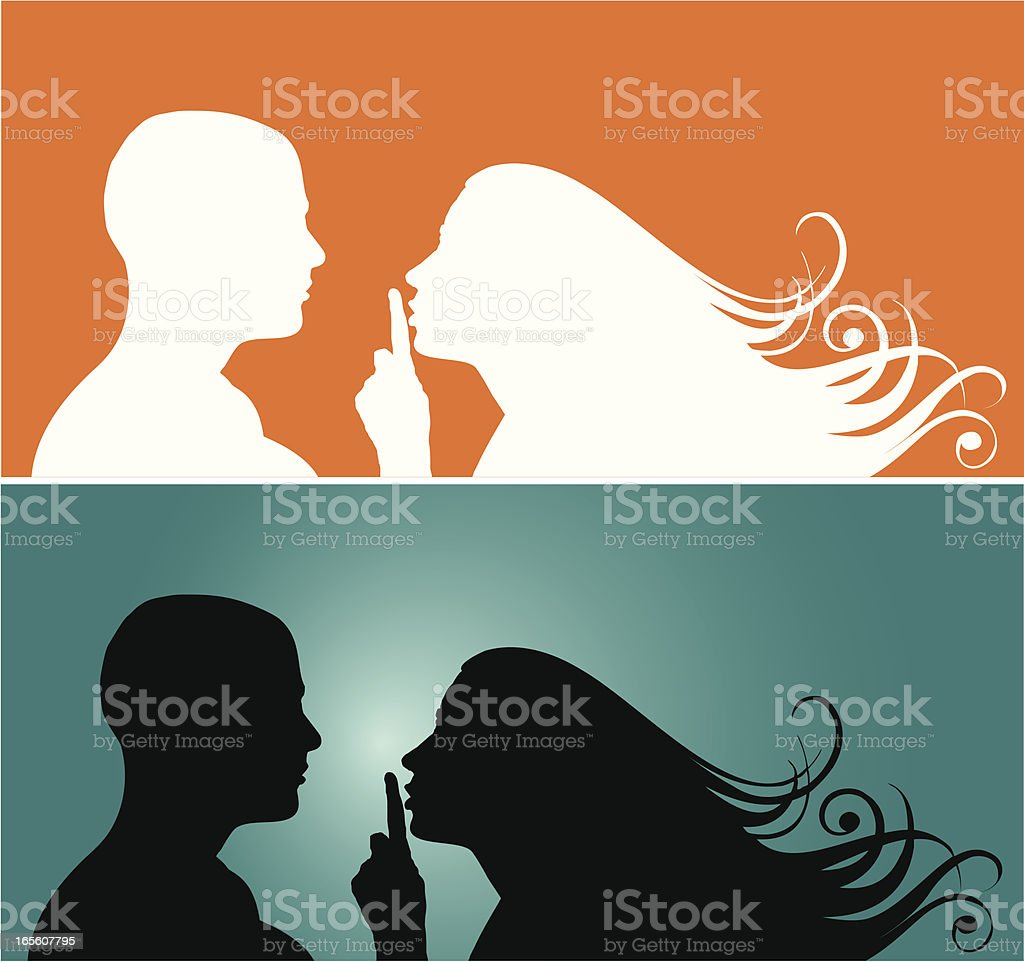 Silence royalty-free silence stock vector art & more images of adult