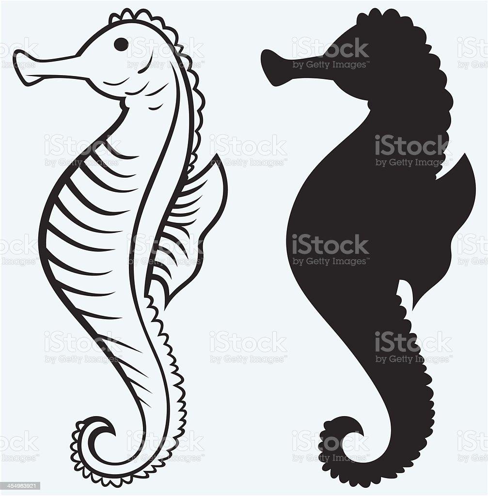 Silhouette Seepferdchen Stock Vektor Art und mehr Bilder von ...