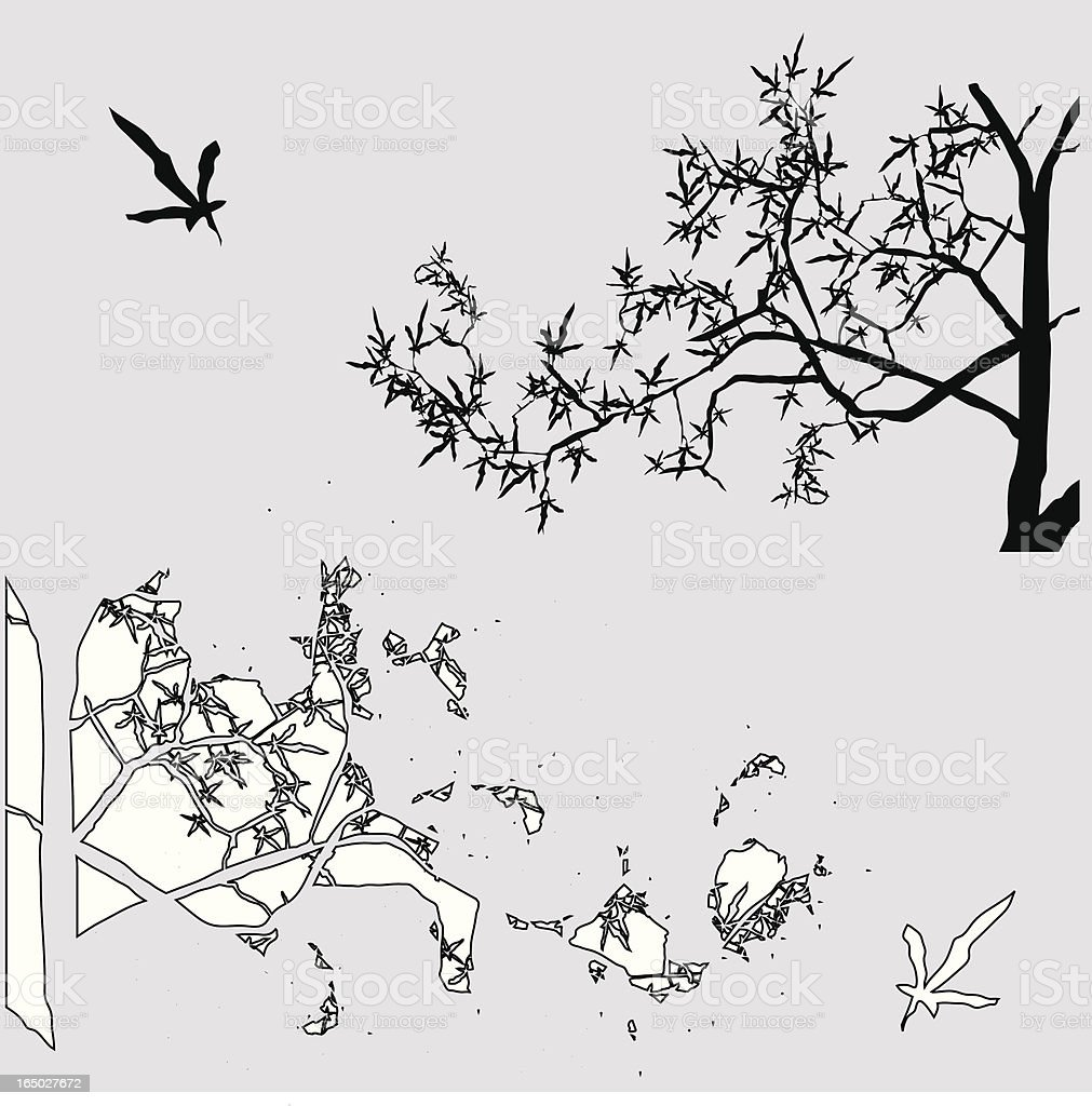 Silhouette and outline royalty-free stock vector art