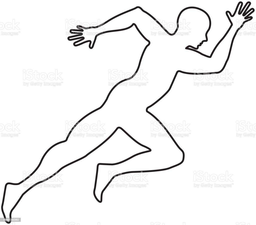 silhouette athlete running icon silhouette athlete running icon - stockowe grafiki wektorowe i więcej obrazów aktywność sportowa royalty-free
