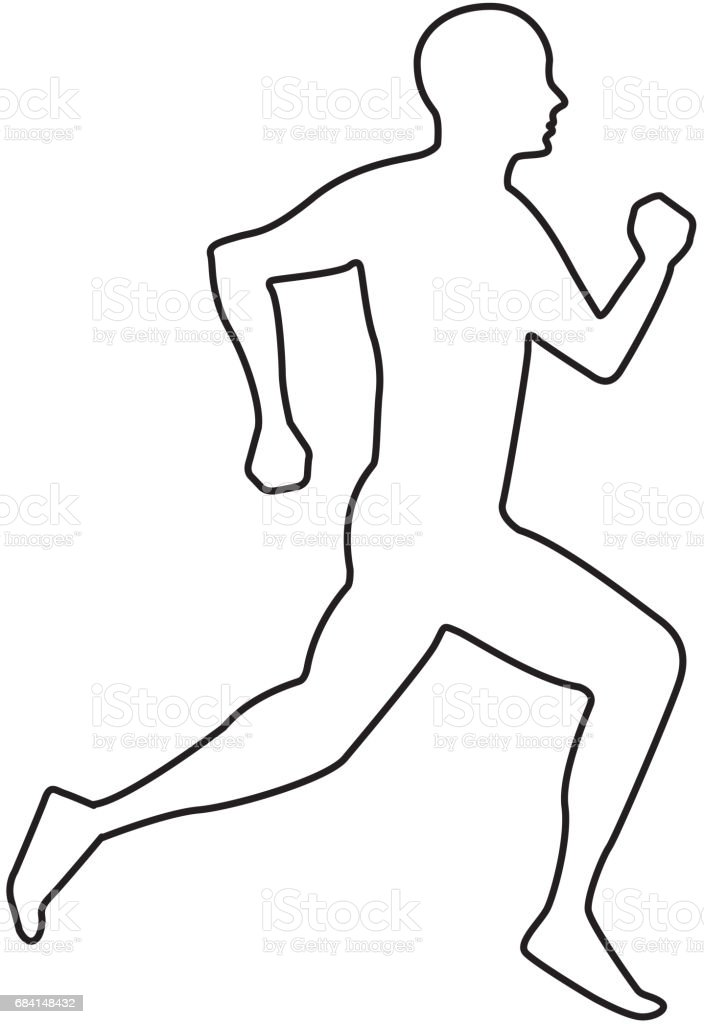 silhouette athlete running icon silhouette athlete running icon - immagini vettoriali stock e altre immagini di adulto royalty-free