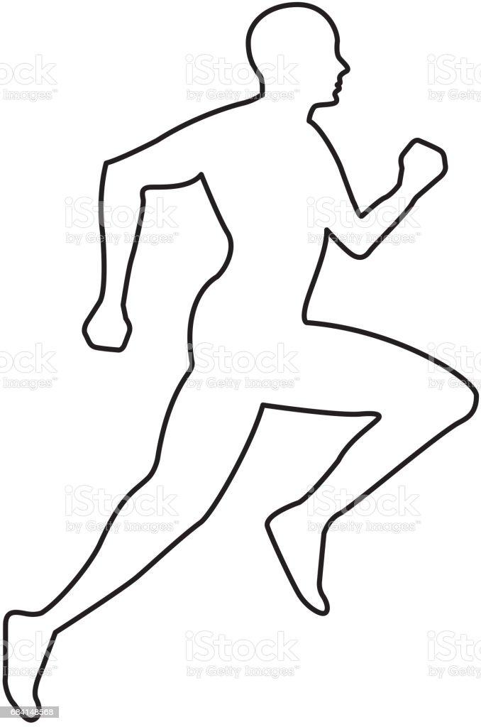 Silhouette idrottsman rinnande ikonen royaltyfri silhouette idrottsman rinnande ikonen-vektorgrafik och fler bilder på atlet
