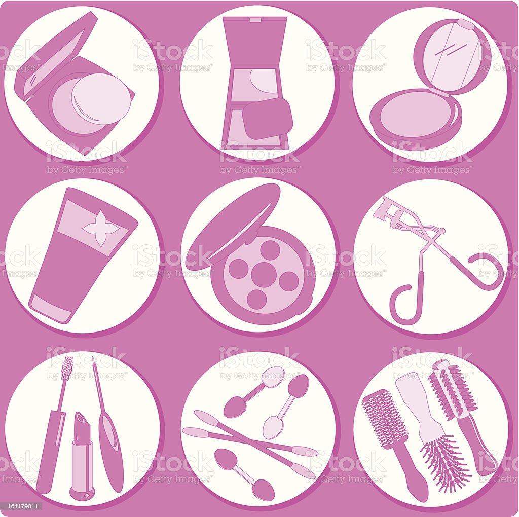 Silhouette - Beauty tools, Cosmetics (Vector Set#4) royalty-free stock vector art