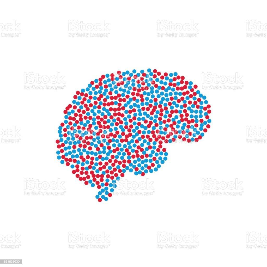 Ilustración de Cerebro De Silueta Aislado y más banco de imágenes de ...