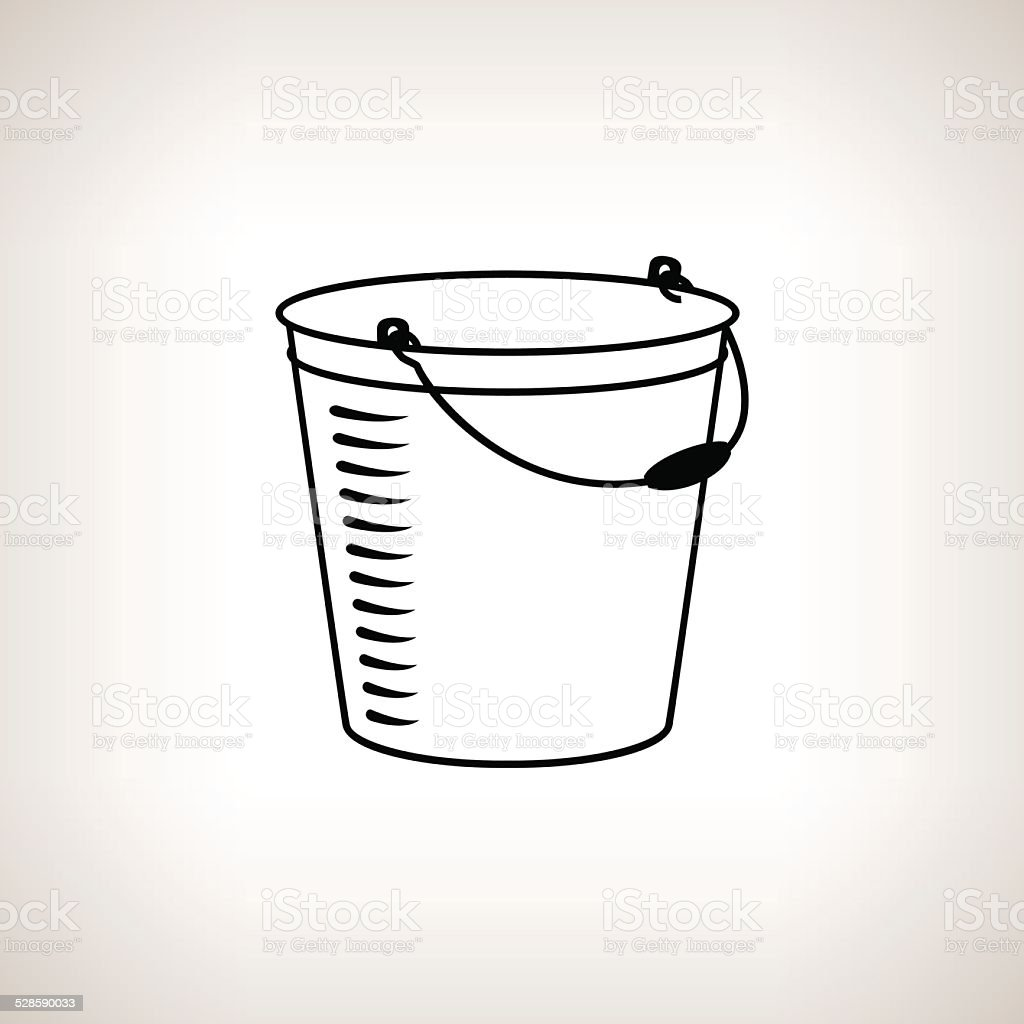 Silhouette bucket on a light background, vector illustration vector art illustration