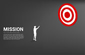 Business Concept of marketing target and customer