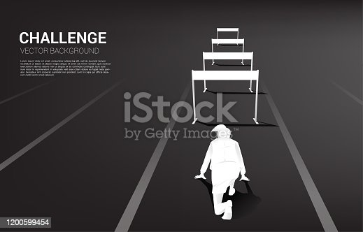 Background concept for Obstacle and challenge in business