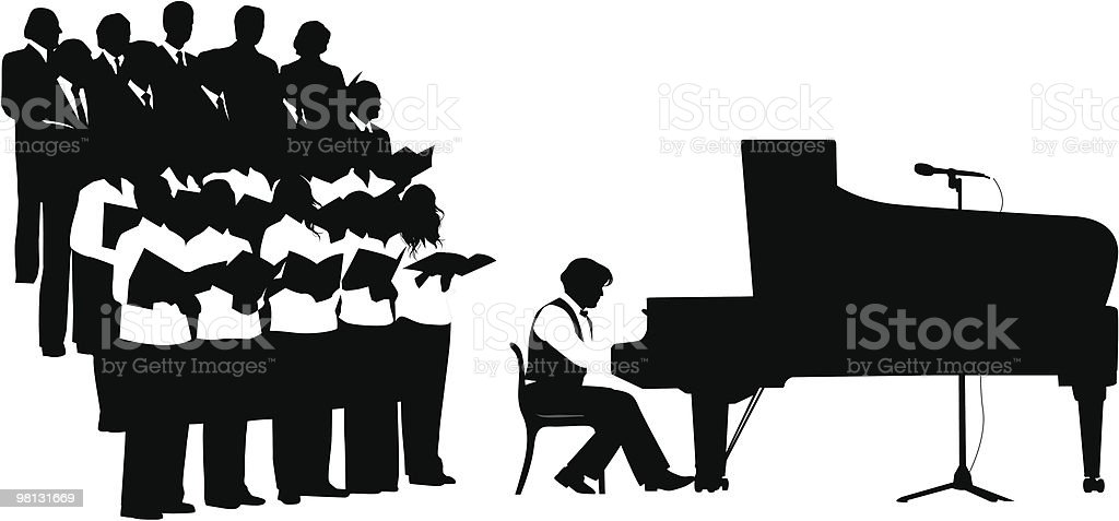 Silhouette chorus. royalty-free silhouette chorus stock vector art & more images of adult