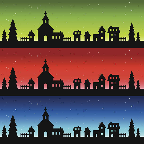 Royalty free small town clip art vector images
