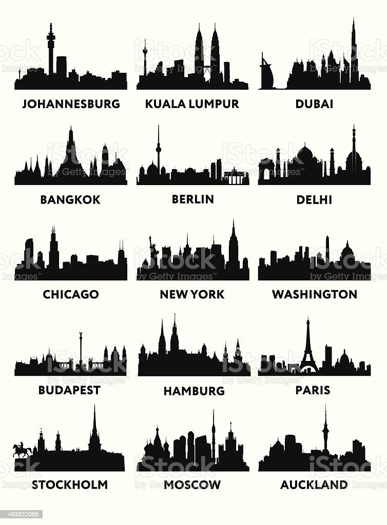 Silhouette city vector art illustration