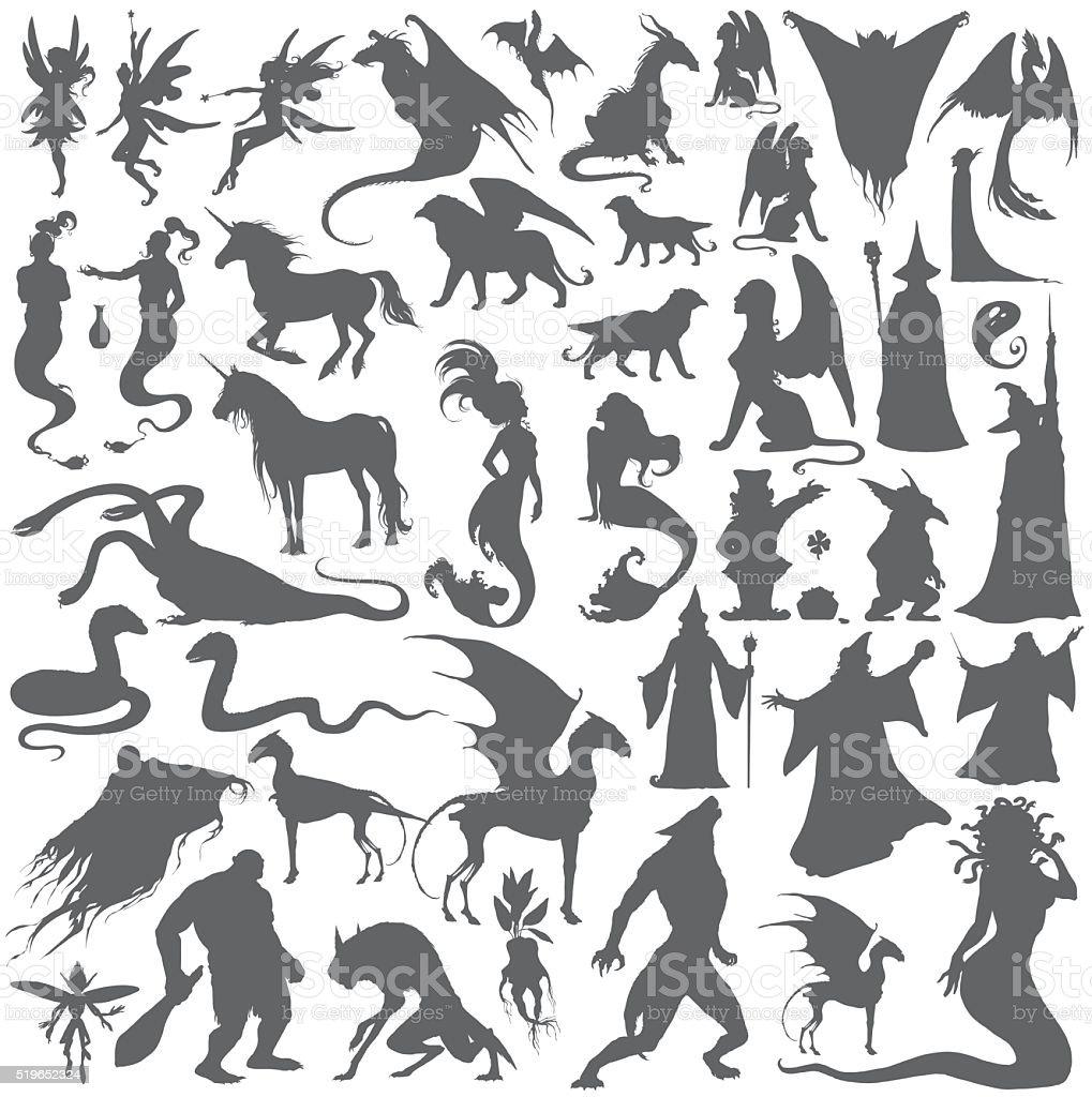 collection de silhouette de la mythologie romaine personnes des monstres des animaux cliparts. Black Bedroom Furniture Sets. Home Design Ideas