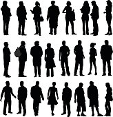 Silhouette Collection Of Various Adults