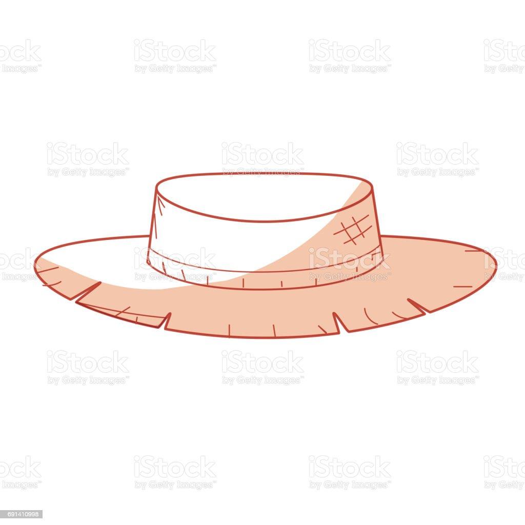 Ilustración de Sombrero De Silueta Perú Lindo Para Usar En El ...