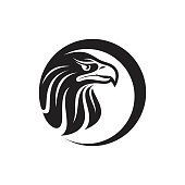 Silhouette design of head Eagle for your business symbol