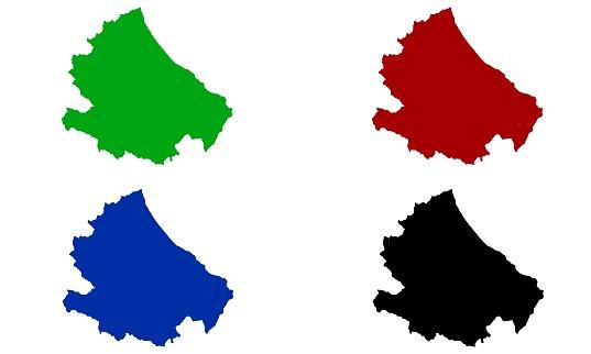 Silhouette design of map of Abruzzo in Italy