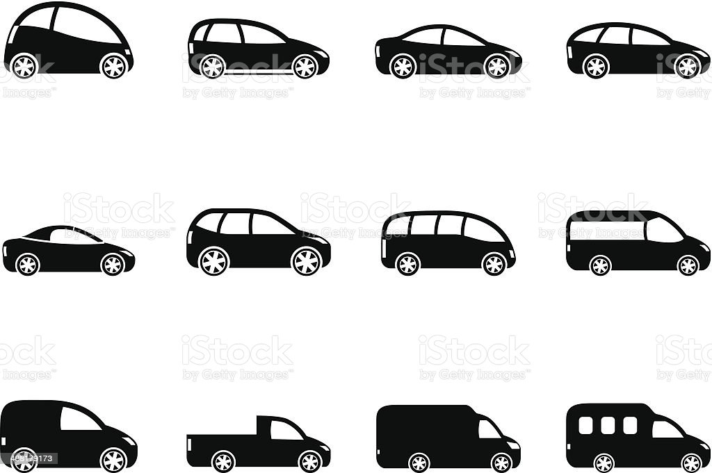 Silhouette Different Types Of Cars Icons Stock Illustration Download Image Now Istock