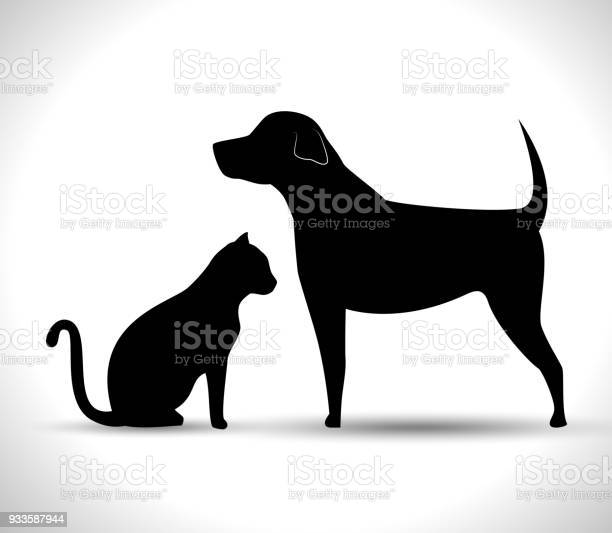 Silhouette dog and cat pet icon vector id933587944?b=1&k=6&m=933587944&s=612x612&h=zmdogjhkdl3lcr ksmds17pthlhmb4mmzoy368kdc5u=
