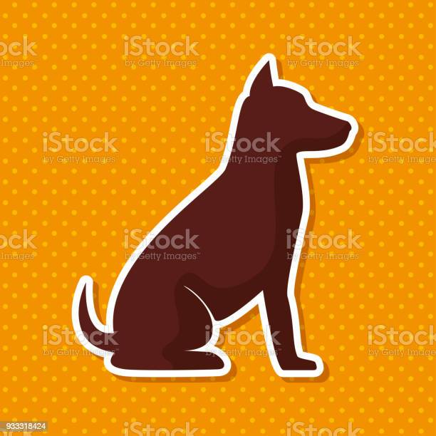 Silhouette dog sit yellow dot backgroun vector id933318424?b=1&k=6&m=933318424&s=612x612&h=kj4tse9q5szjmjjng2ofvpzo4rsyljixonkh2jaxbrg=