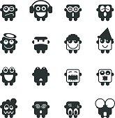 Silhouette Emoticons Vector File Set 3.