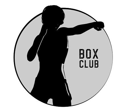 Silhouette Female Box Club Vector