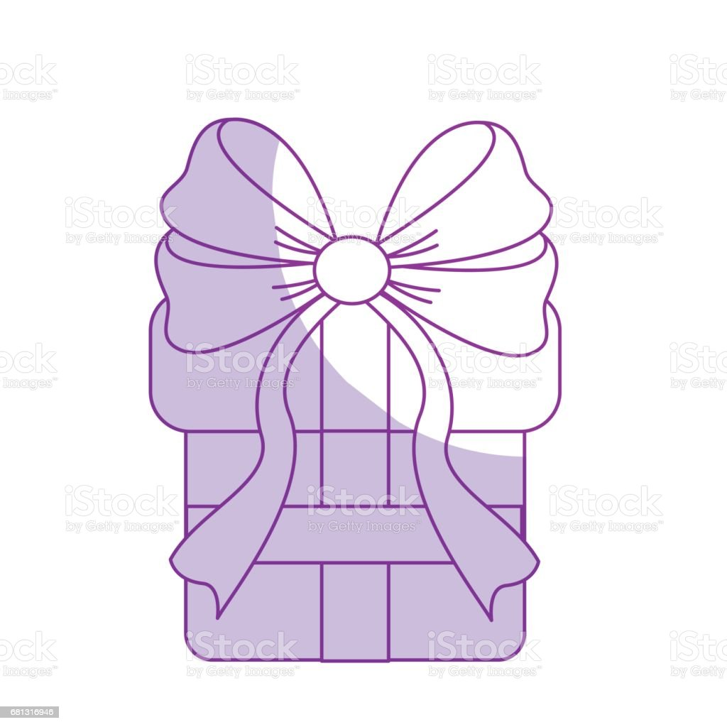 silhouette gift present with ribbon decoration to celebrate party royalty-free silhouette gift present with ribbon decoration to celebrate party stock vector art & more images of anniversary