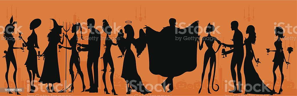Silhouette Halloween Party royalty-free stock vector art