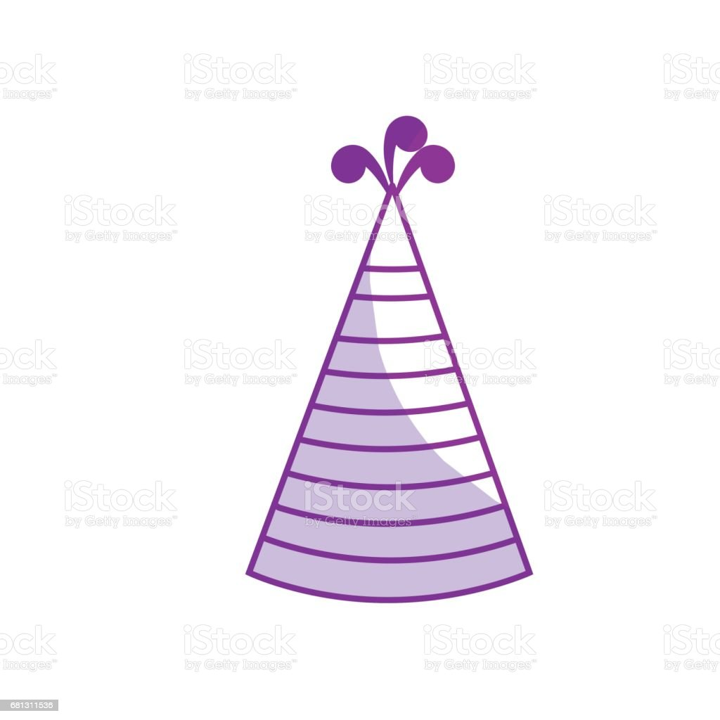 silhouette hat party to cebrate happy birthday royalty-free silhouette hat party to cebrate happy birthday stock vector art & more images of anniversary