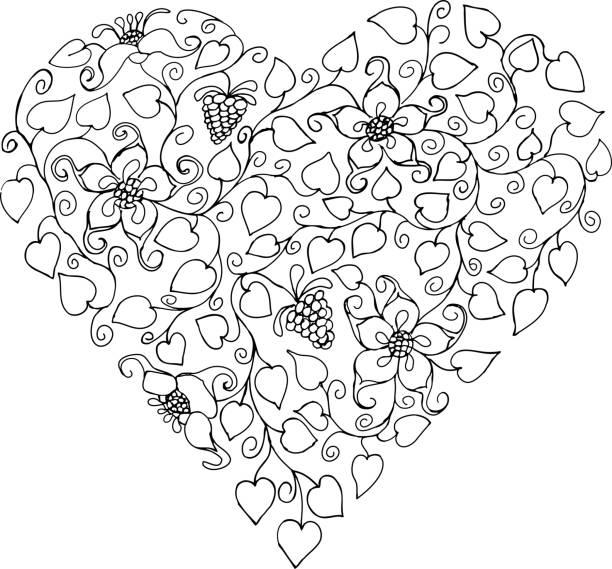 Clip Art Of Human Heart Sketch Illüstrasyonlar Ve Vektör Görselleri