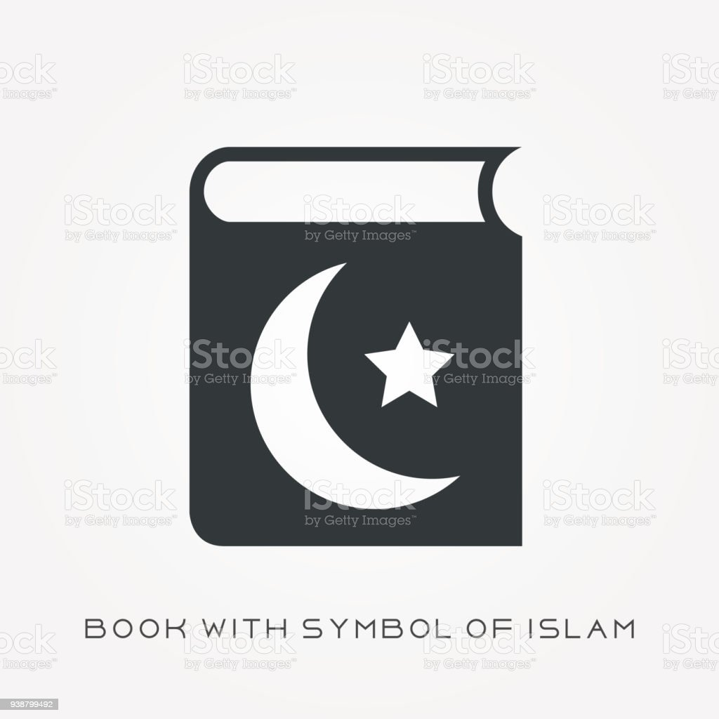 Silhouette Icon Book With Symbol Of Islam Stock Vector Art More