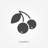 Silhouette icon cherry