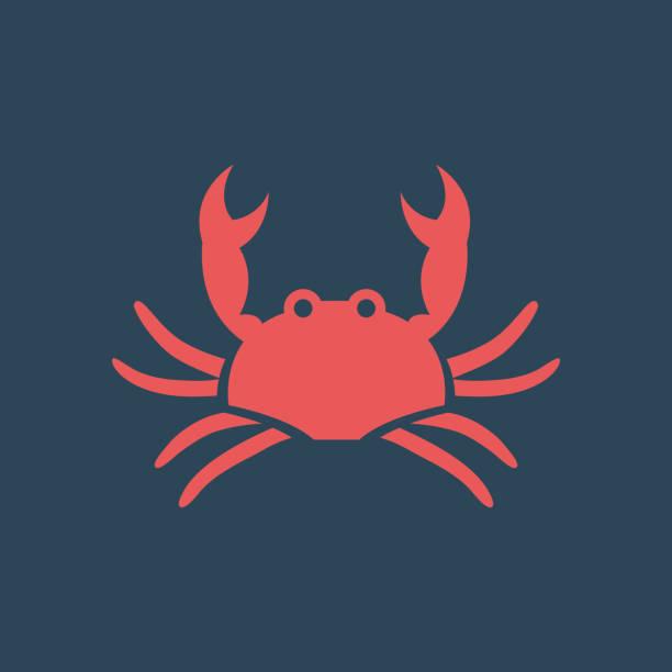 stockillustraties, clipart, cartoons en iconen met silhouet pictogram krab - krab gerecht