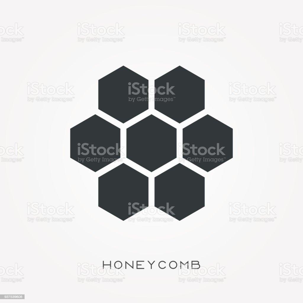 Silhouette icône en nid d'abeille - Illustration vectorielle