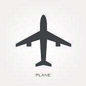 Silhouette icon plane