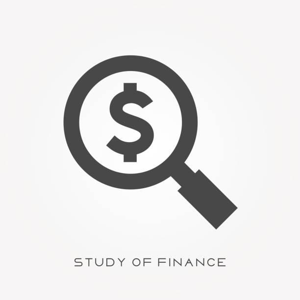 金融のシルエット アイコン研究 - ドル記号点のイラスト素材/クリップアート素材/マンガ素材/アイコン素材