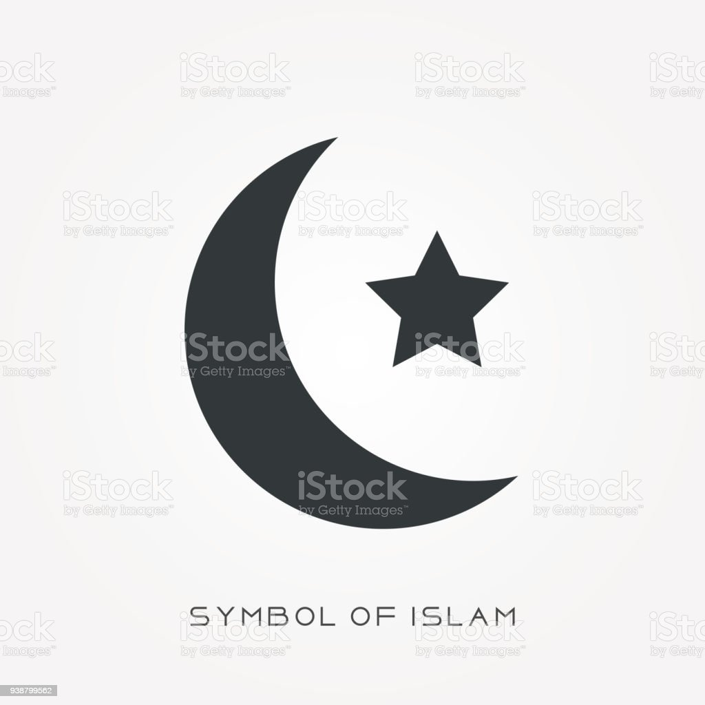 Silhouette Icon Symbol Of Islam Stock Vector Art More Images Of
