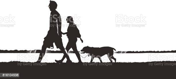 Silhouette illustration of couple walking dog vector id816104538?b=1&k=6&m=816104538&s=612x612&h=sbfmw6wlczwpp6ccfu4sgocn3xfvtt sq4vn20fom s=