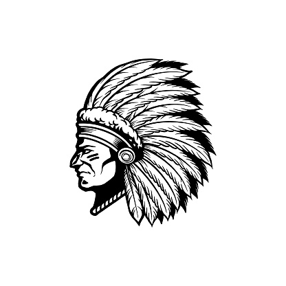 Silhouette Indian Apache Clipart illustrations for your work symbol, mascot merchandise t-shirt, stickers and Label designs, poster, greeting cards advertising business company or brands.