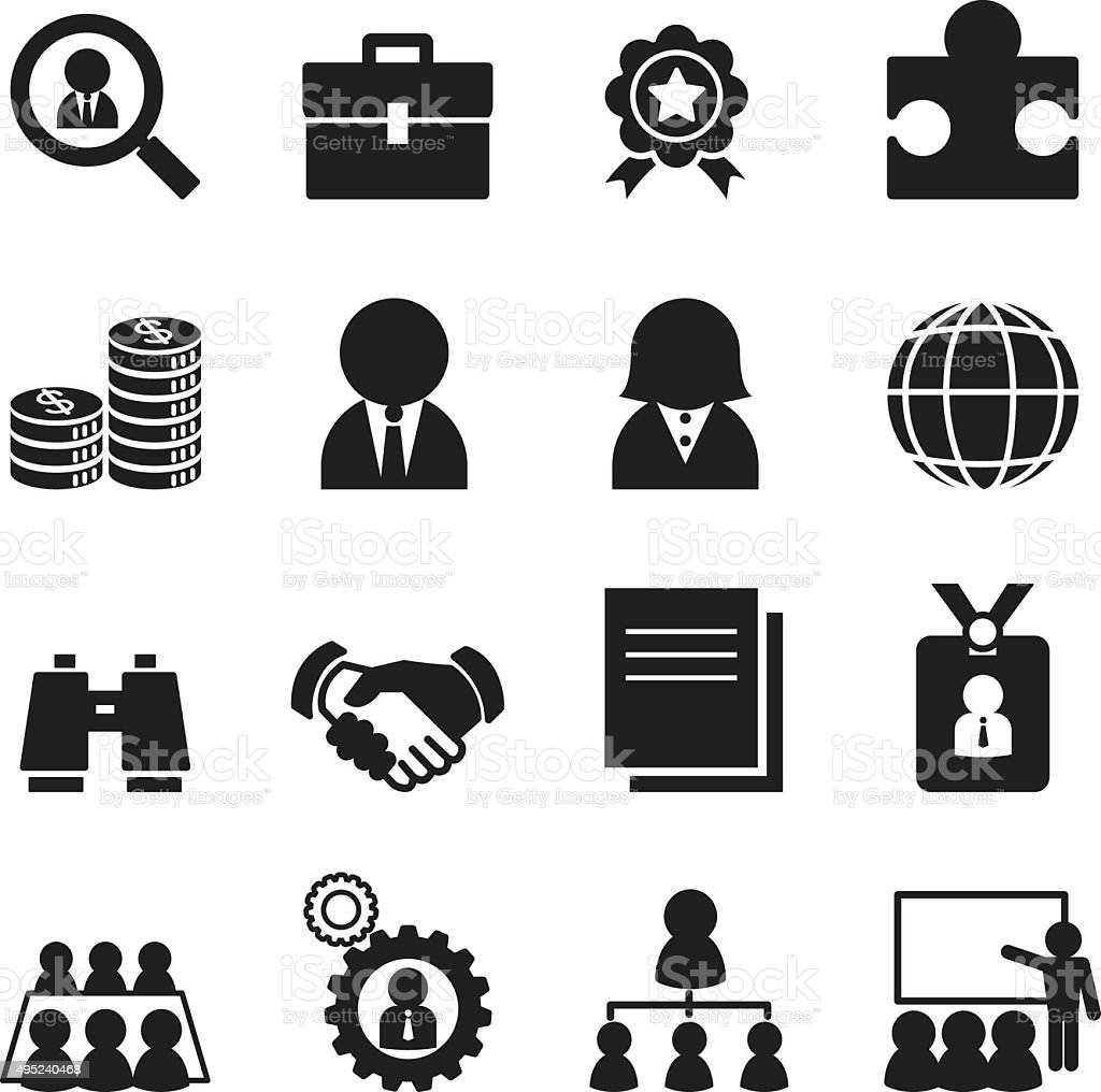 Silhouette Job Icon Set Stock Vector Art & More Images of ...