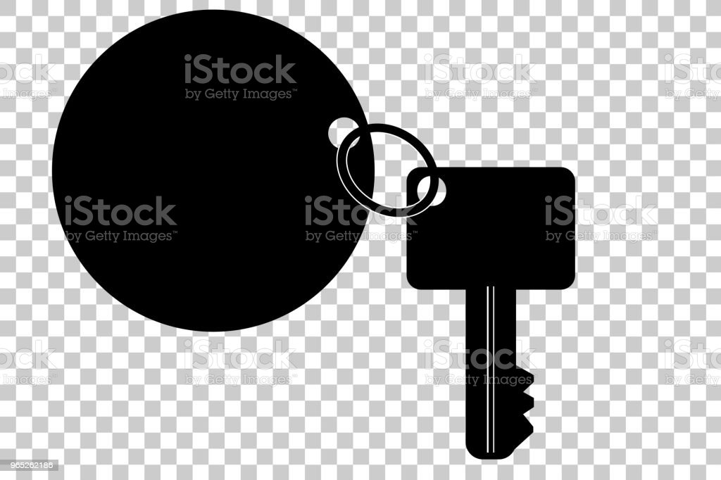 silhouette key with tag, at transparent effect background silhouette key with tag at transparent effect background - stockowe grafiki wektorowe i więcej obrazów bezpieczeństwo royalty-free