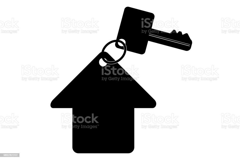 silhouette key with tag, at transparent effect background silhouette key with tag at transparent effect background - stockowe grafiki wektorowe i więcej obrazów bezpieczeństwo royalty-free