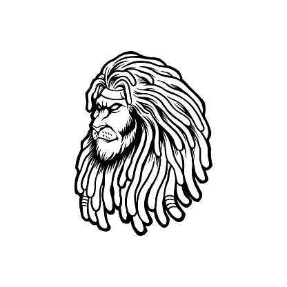 """Silhouette Lion Rasta Clipart for your work Logo merchandise t-shirt, stickers and Label, poster, greeting cards advertising business company or brands.""""n"""
