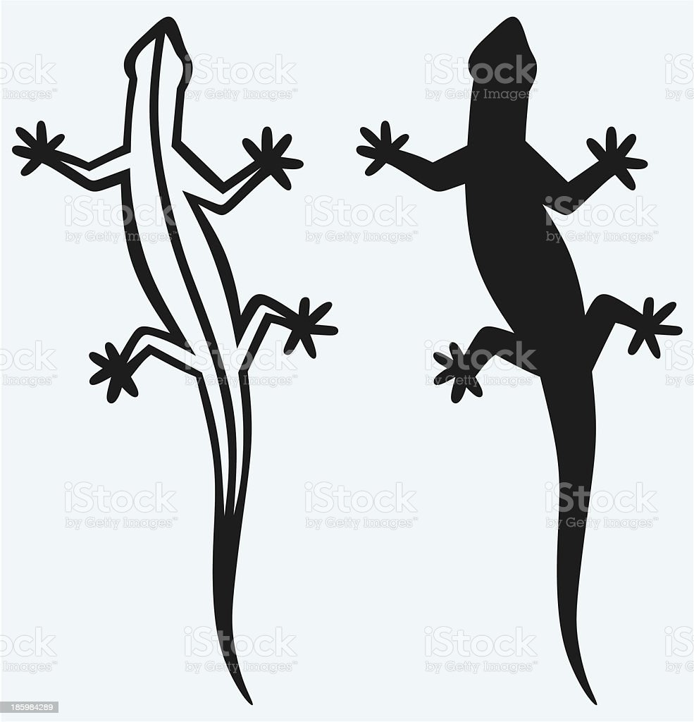 Silhouette lizard royalty-free silhouette lizard stock vector art & more images of animal