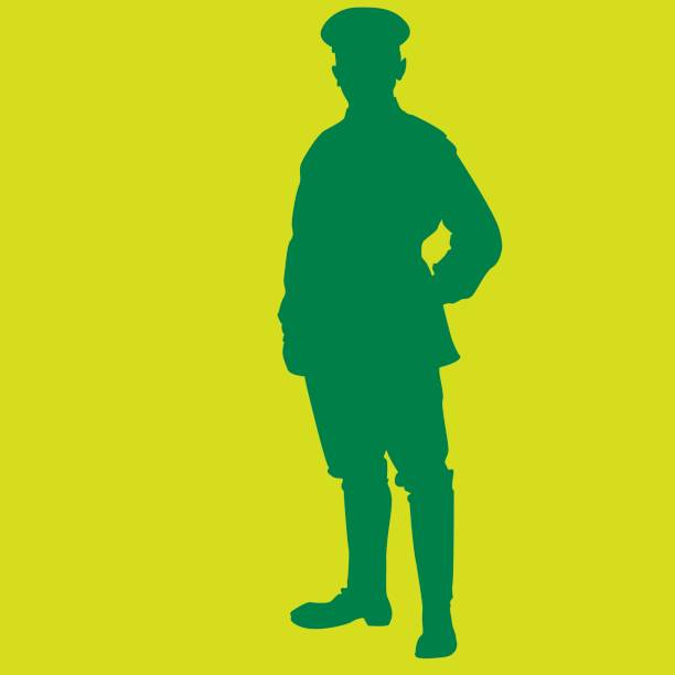 silhouette - major  major military rank stock illustrations